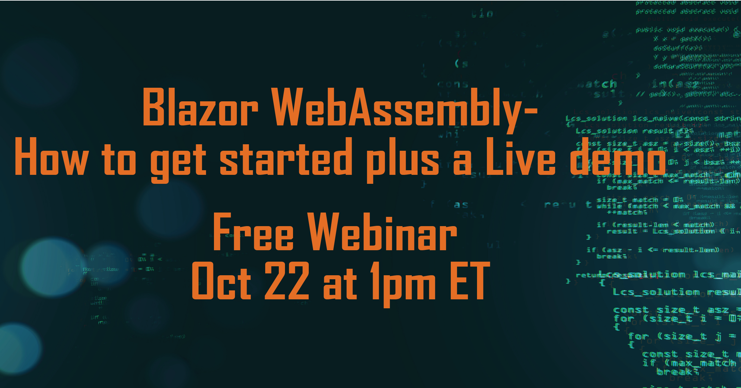 Blazor WebAssembly – How to get started plus a Live demo